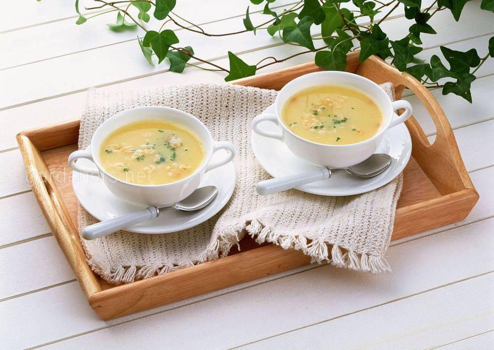Готовим французский сырный суп с курицей