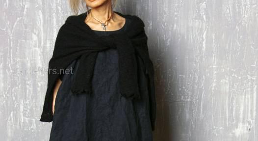 Платье бочка, платье кокон из натурального льна, размер 42-74+ плюс сайз