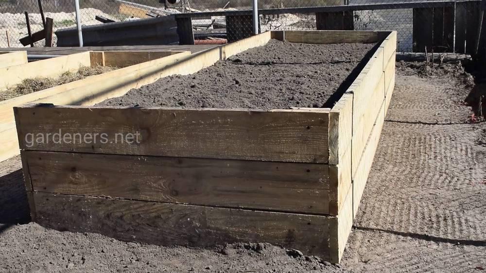 Как защитить высокие деревянные грядки от гниения