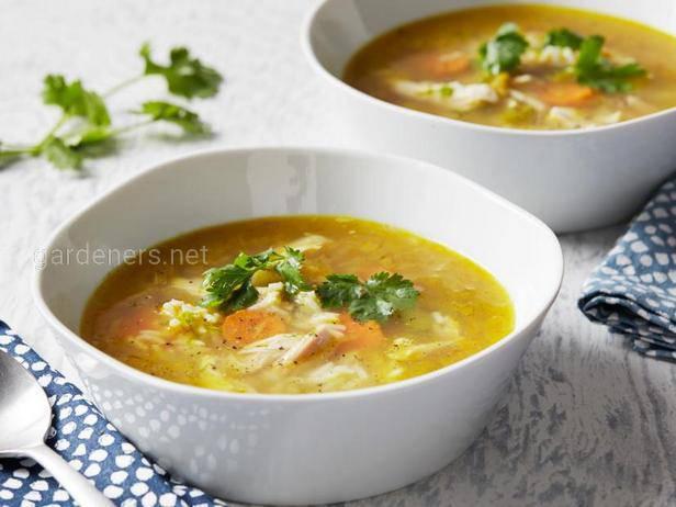 Английский острый суп из яблок с добавлением карри