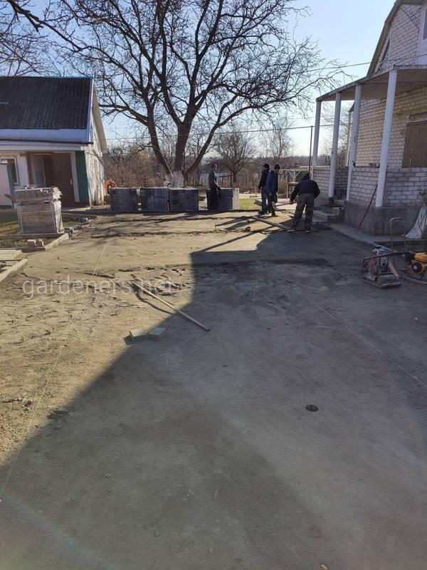 Подготовка к укладке уличной плитки