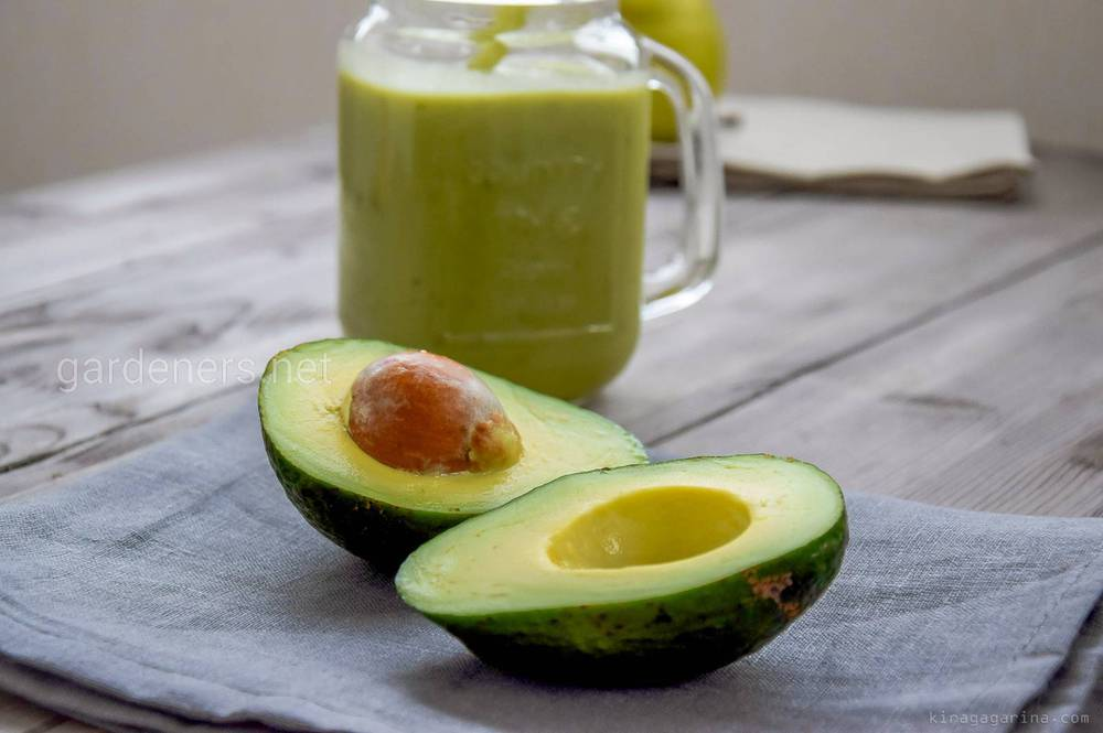 Авокадо + груша + шпинат
