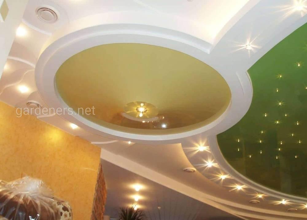 Сложные и пёстрые натяжные потолки