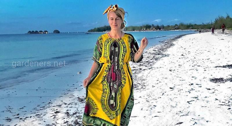 Танзания. Африканские тюрбаны - «китенге»