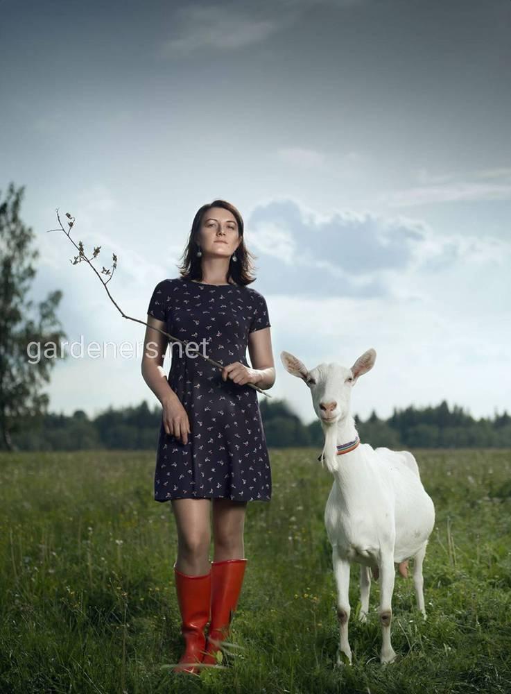 Юлия на ферме