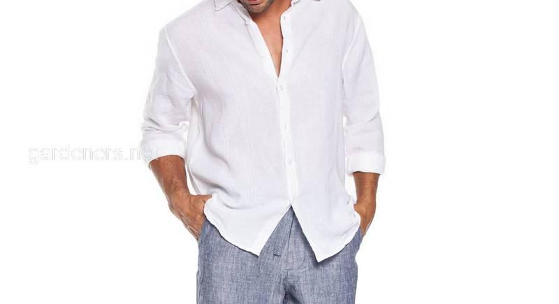 Костюм мужской льняной. Льняные брюки и рубашка. Цвет на выбор в ассортименте