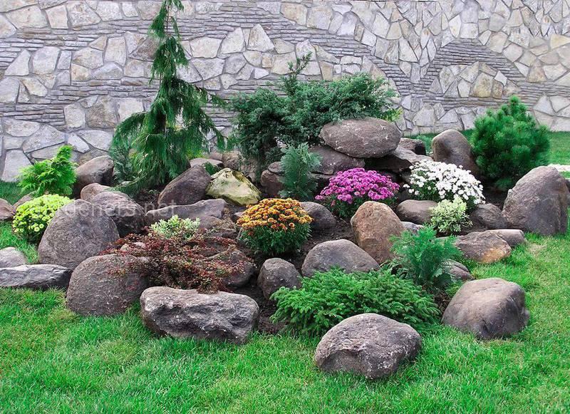 Альпийская горка для украшения сада