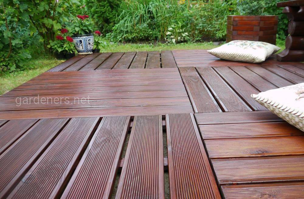 Пол для террасы из деревянных досок