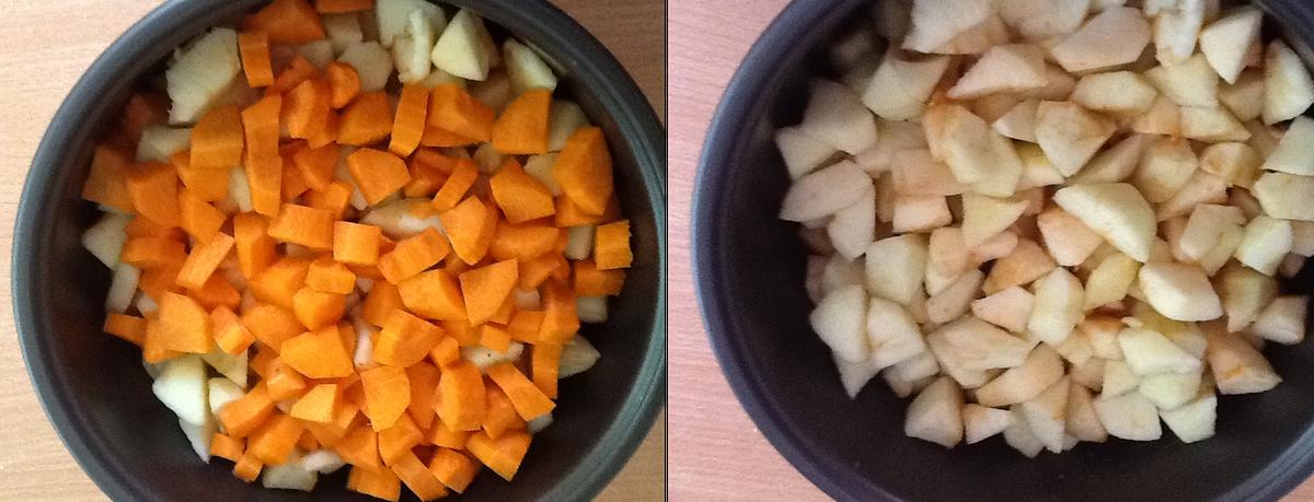 детское пюре яблоки и морковь
