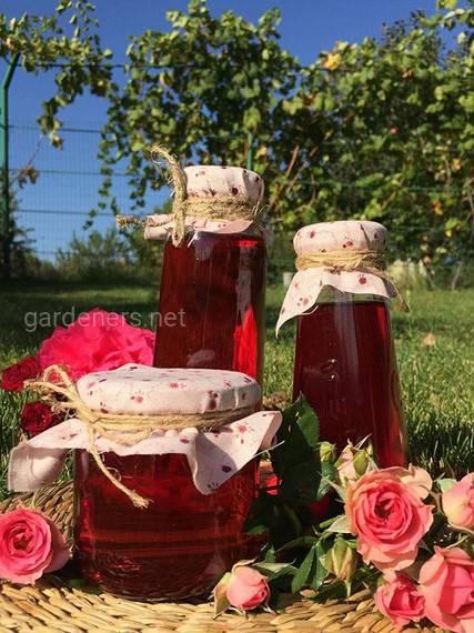 Приготовление сиропа из лепестков роз