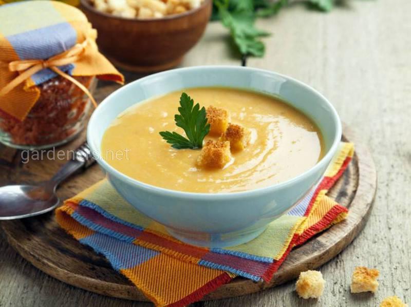 Овочевий крем-суп з цвітної капусти з вершками. Рецепт