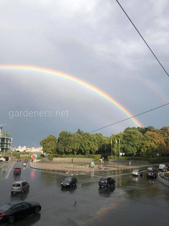 Двойная радуга в Киеве