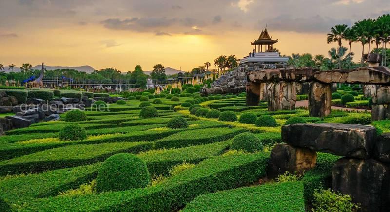 Тропическое место для отдыха – парк Нонг Нуч в Таиланде