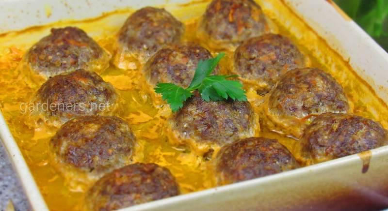 Рецепт тефтелі з гречкою в духовці
