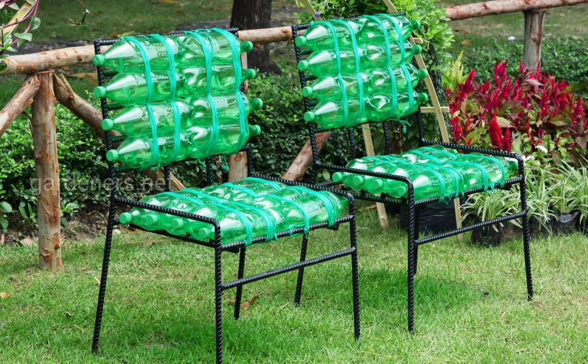 Садовая мебель из пластиковых бутылок