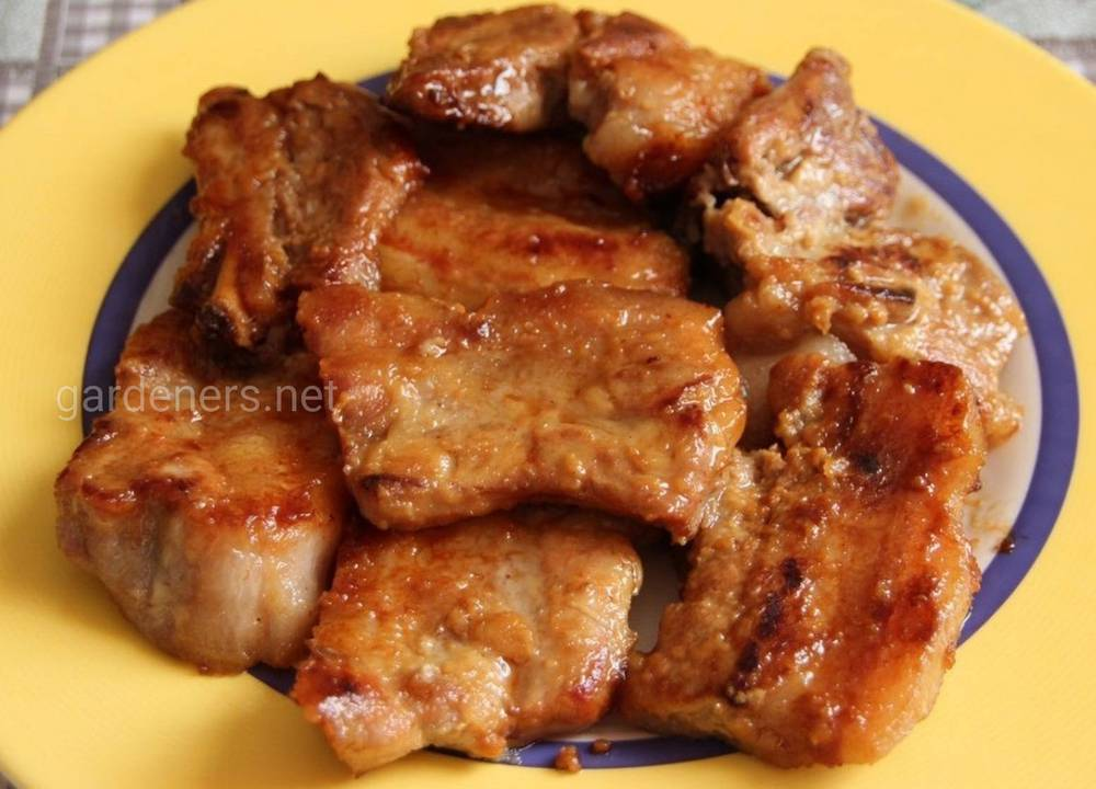 Мясо в медовом соусе