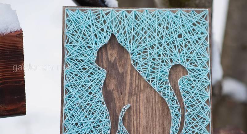 Техника стринг-арт: плетение из ниток и гвоздей