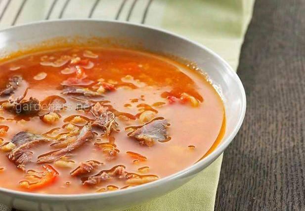 Суп а-ля минестроне с бараниной