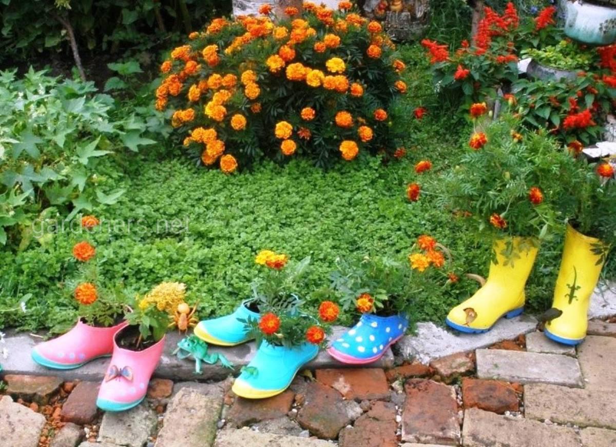 Обувь для цветника