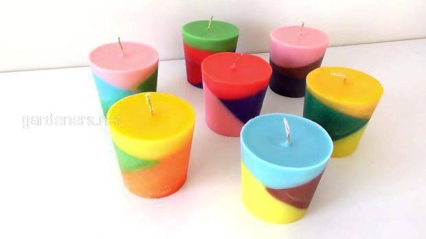 Різнобарвні свічки