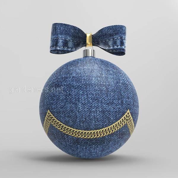 Новогодние поделки из джинсовой ткан