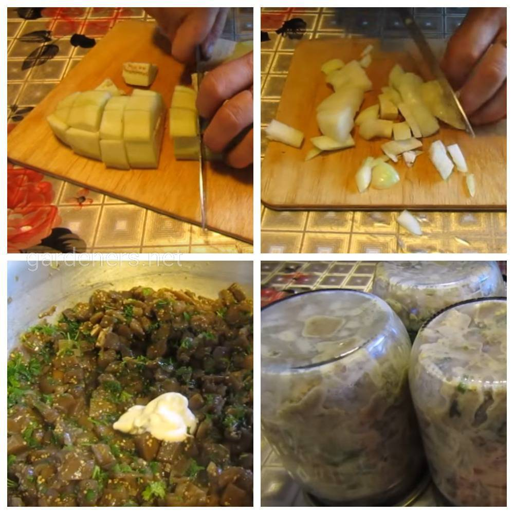 Салат с баклажанов в майонезе
