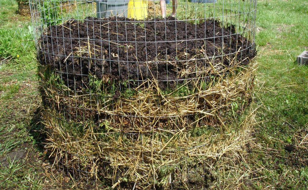 слои компоста