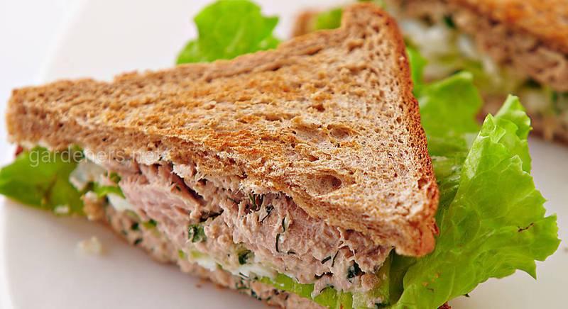 Сендвічі з тунцем і сиром. Рецепт