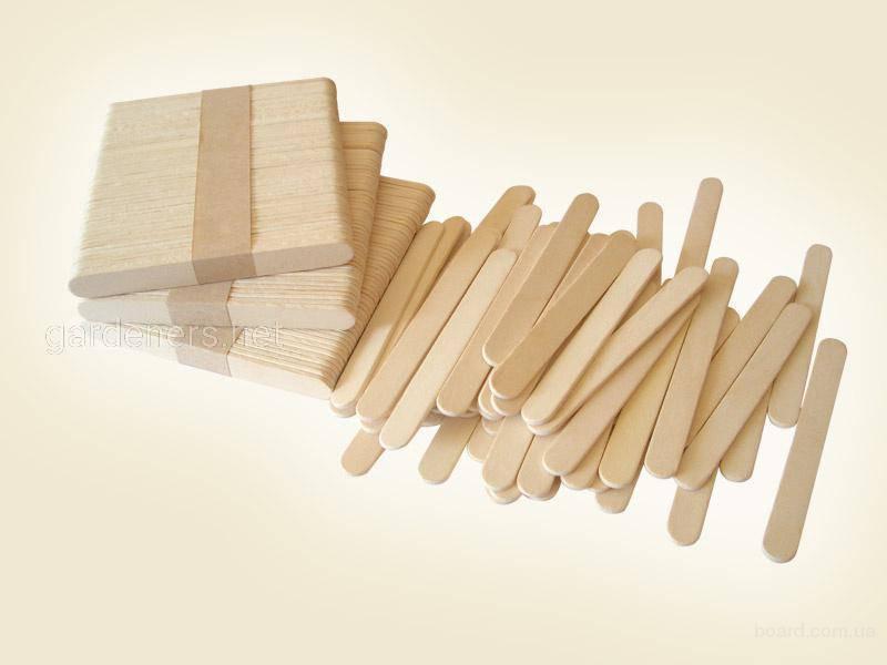 Бирка-колышек из деревянной палочки
