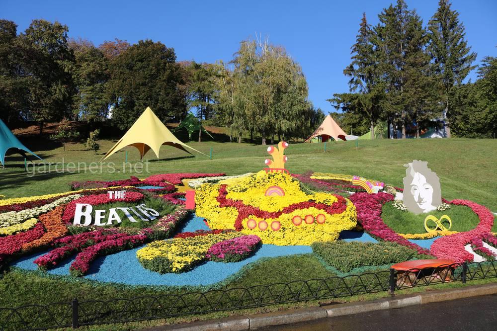 Цветочная композиция The Beatles