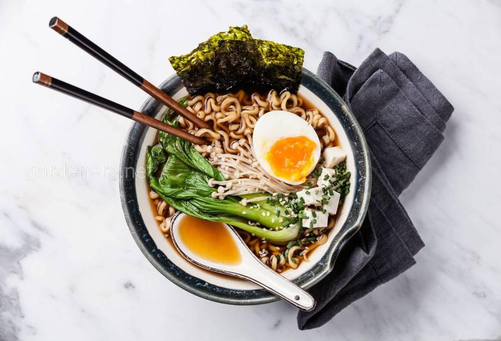 Японский суп Том Ям с лапшой Сио Рамен