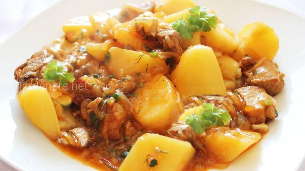 Картофель с курятиной