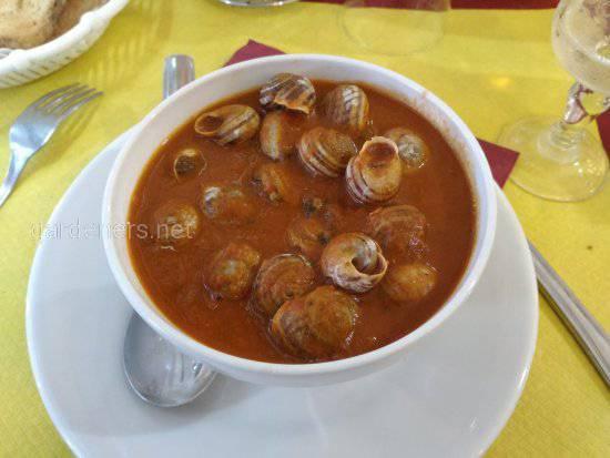 Суп из виноградных улиток