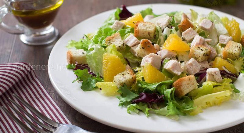 Салат с индейкой и апельсином!