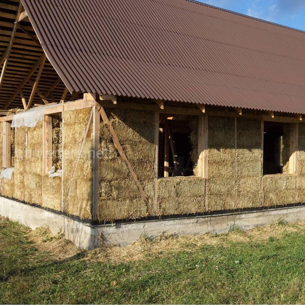 Строительство дома из соломы