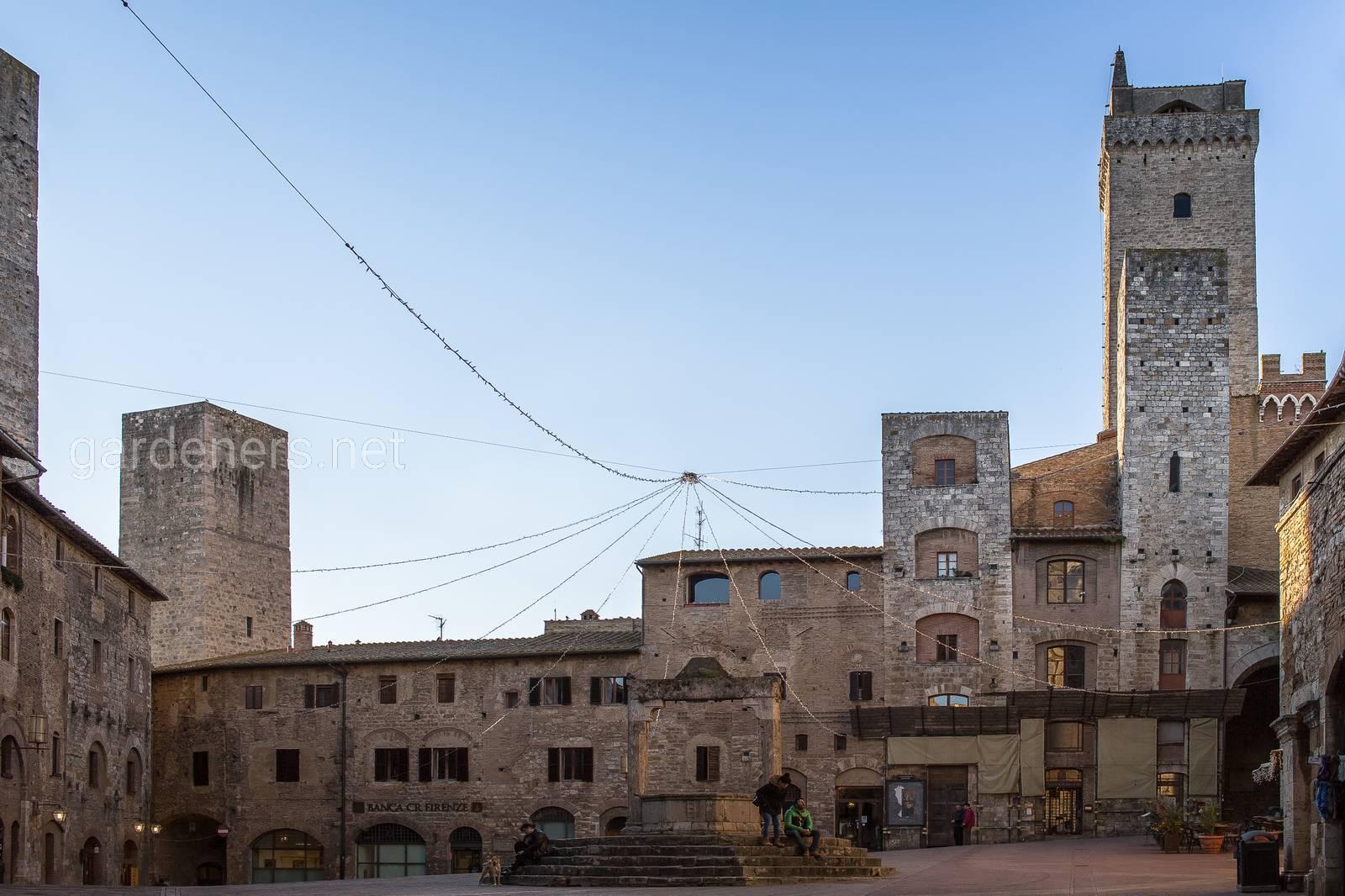 San Gimignano town, Toscana