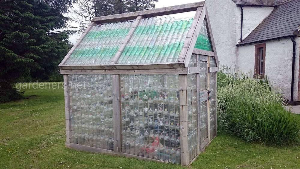 Теплица из пластиковых бутылок своими руками (Часть 2)