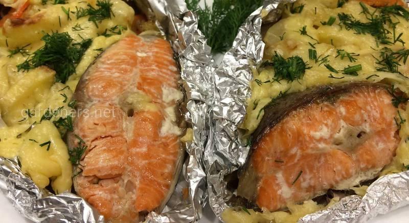 Запеченная в духовке рыба с сыром