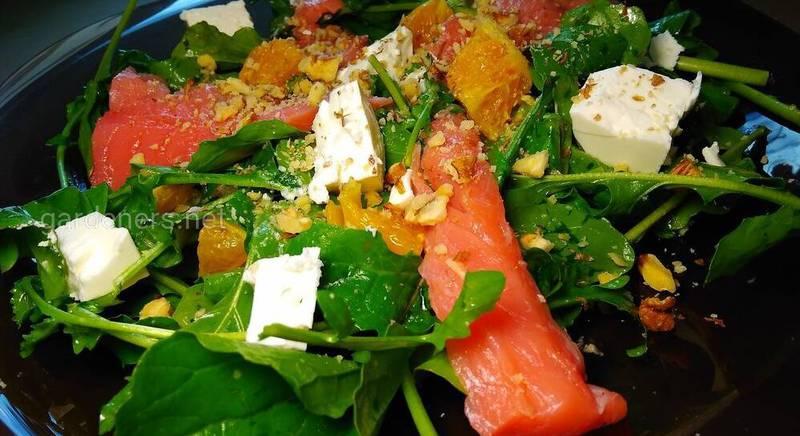 салат с сьомгой