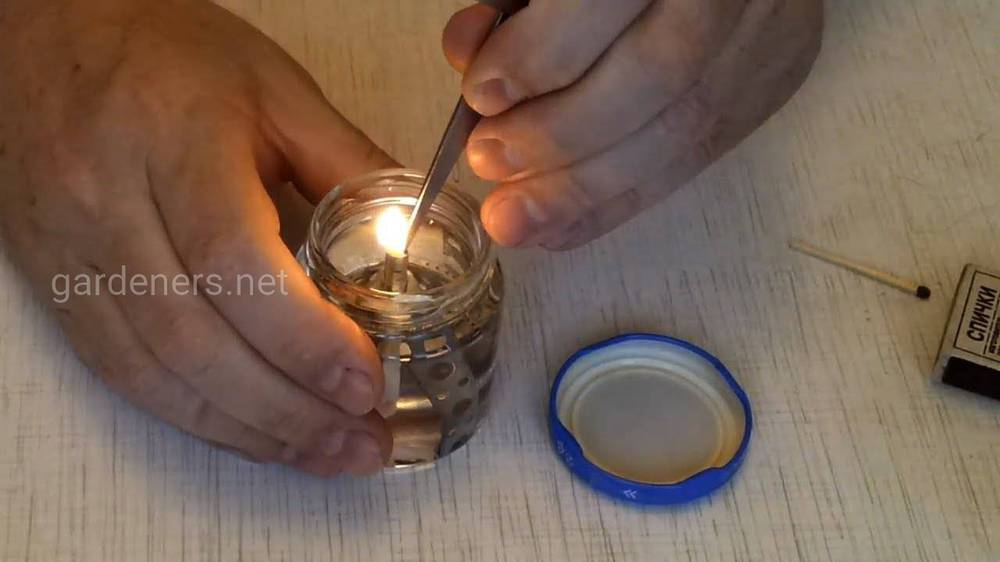 Саморобна масляна лампа