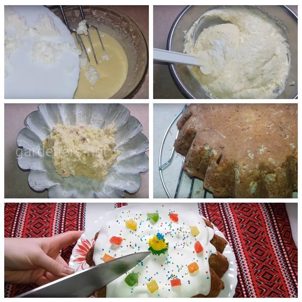 Рецепт пасхального кулича «Творожно-лимонная пасха»