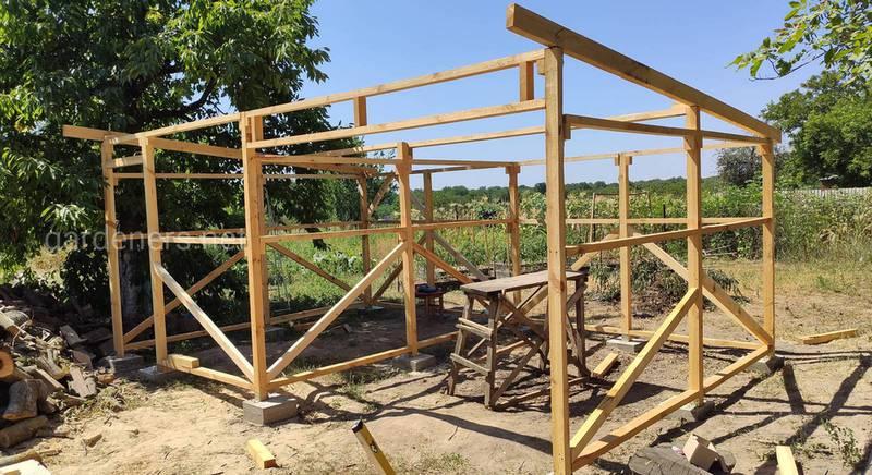 Как построить дровяник, помещение для хранения дров. История личного опыта (часть2)