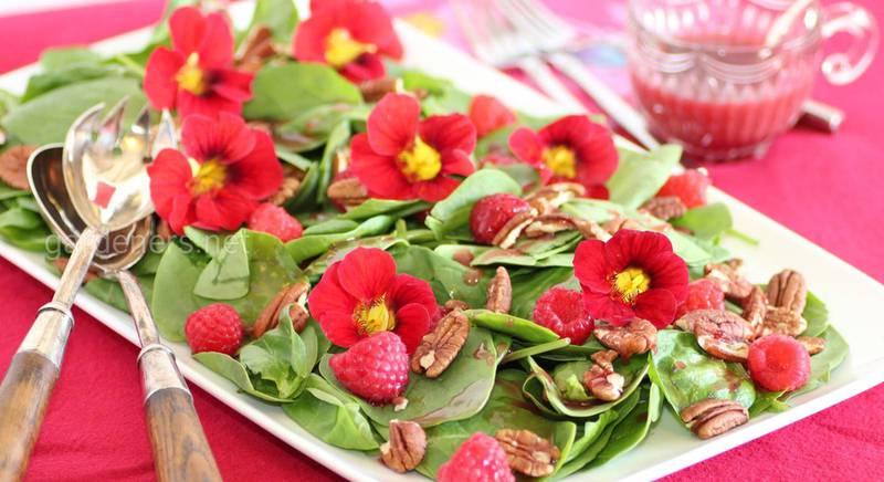 Съедобные цветы - сенсация в кулинарии
