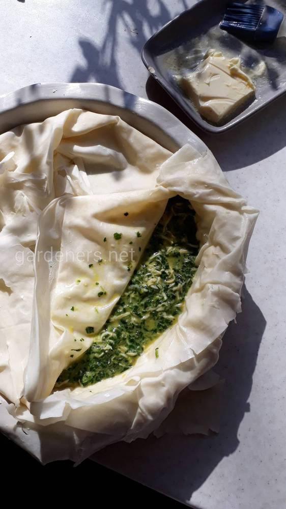 пирог с теста фило